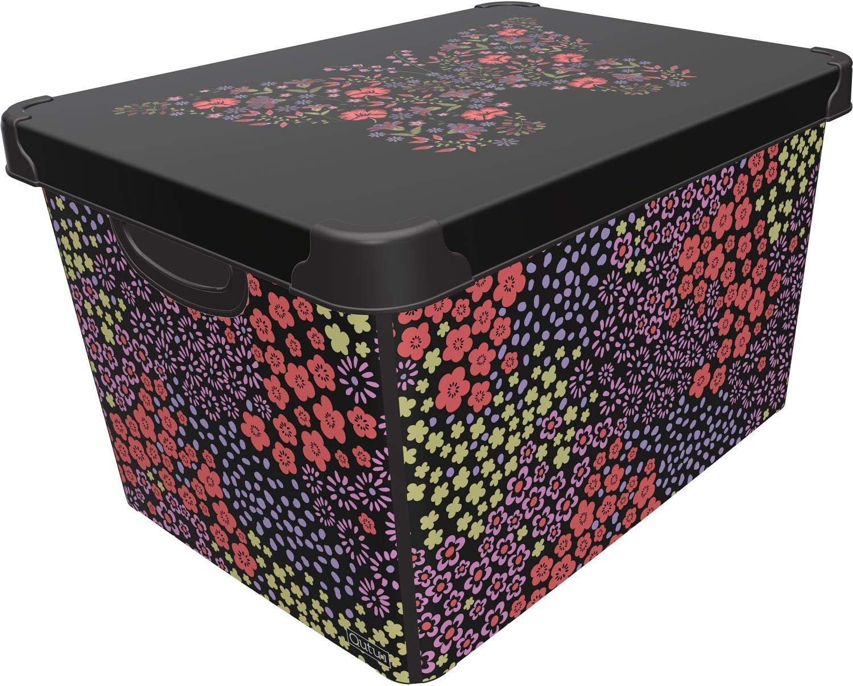 Giraffe, Set of 4 Maqio 22 Litre Large Plastic Storage Boxes Stockholm Deco IML Print Box 22L /…