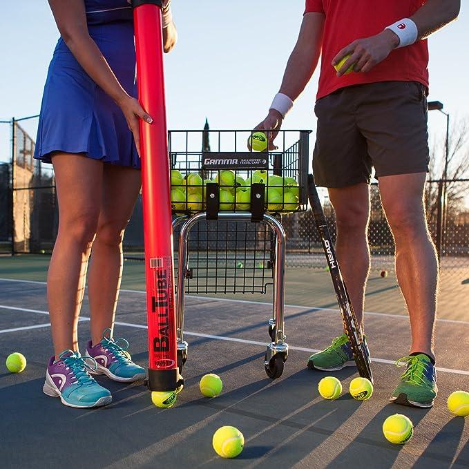 Gamma - Tubo recoge pelotas de tenis, capacidad de 18 pelotas: Amazon.es: Deportes y aire libre