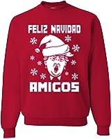 Feliz Navidad Amigos Donald trump Ugly Christmas Sweater Unisex Sweatshirt