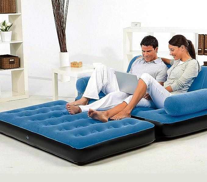 67356 Sofá relax dos en uno inflable BESTWAY dos posiciones 188x152x64cm - Azul oscuro: Amazon.es: Deportes y aire libre