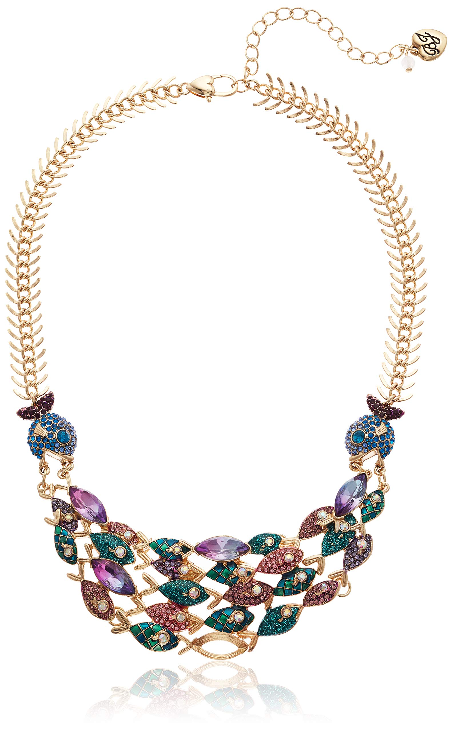 Betsey Johnson (GBG) Women's Mixed Fish Frontal Necklace, Multi, One Size by Betsey Johnson (GBG)