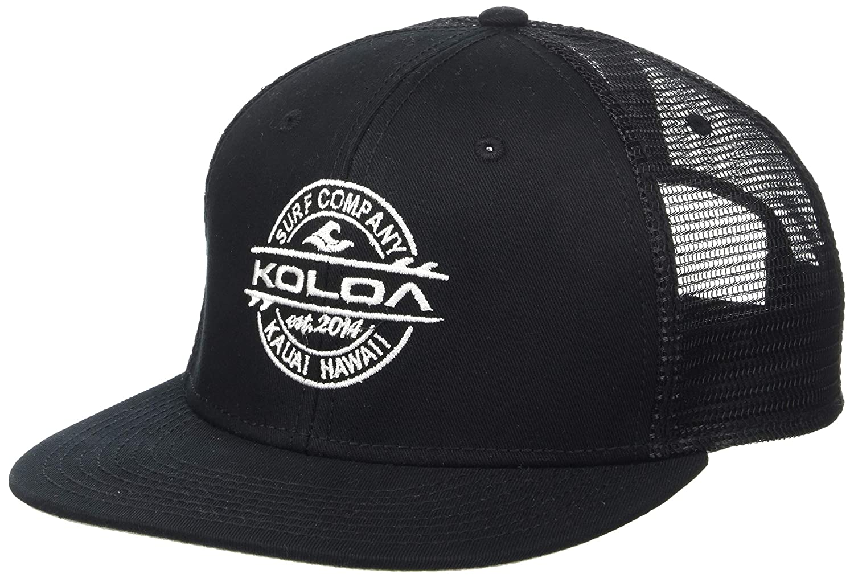 71162d3af6413 Amazon.com  Koloa Surf(tm) Thruster Logo Mesh Back Trucker Hat in Black  with White Logo  Clothing