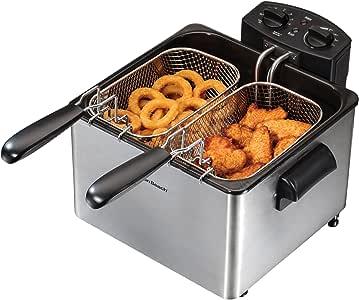 Amazon.com: Savoureux Pro Line Dual Deep Fat Fryer: Double