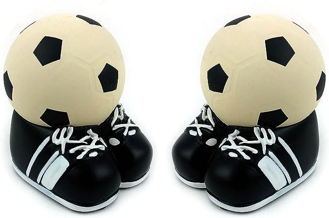 Balón de fútbol con tacos/zapatos Soporte, 2 unidades: Amazon.es ...