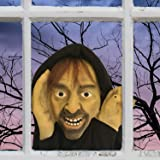 Scary Peeper Knocking Goon Halloween Prop - Spooky Holiday Decoration – True-to-Life Motion Activated Ghoul that Peers in Your Window and Knocks