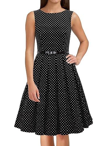 LUOUSE 'Lana' Vestidos Mujer Corto Vintage Retro Estilo de 1950 Rockabilly Escote Elegante