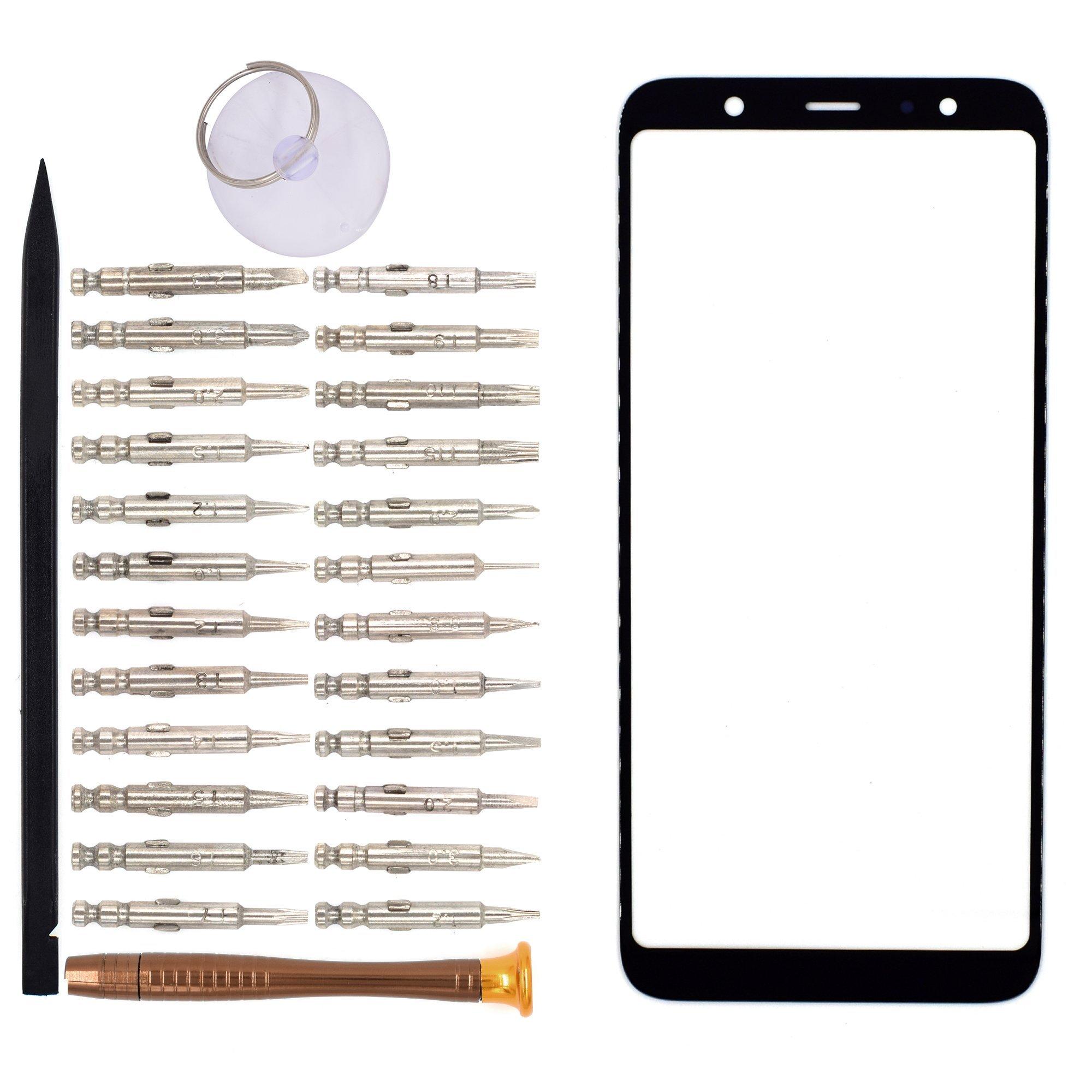 Vidrio Frente para Samsung Galaxy A6 2018 negro [GOODYITOU]