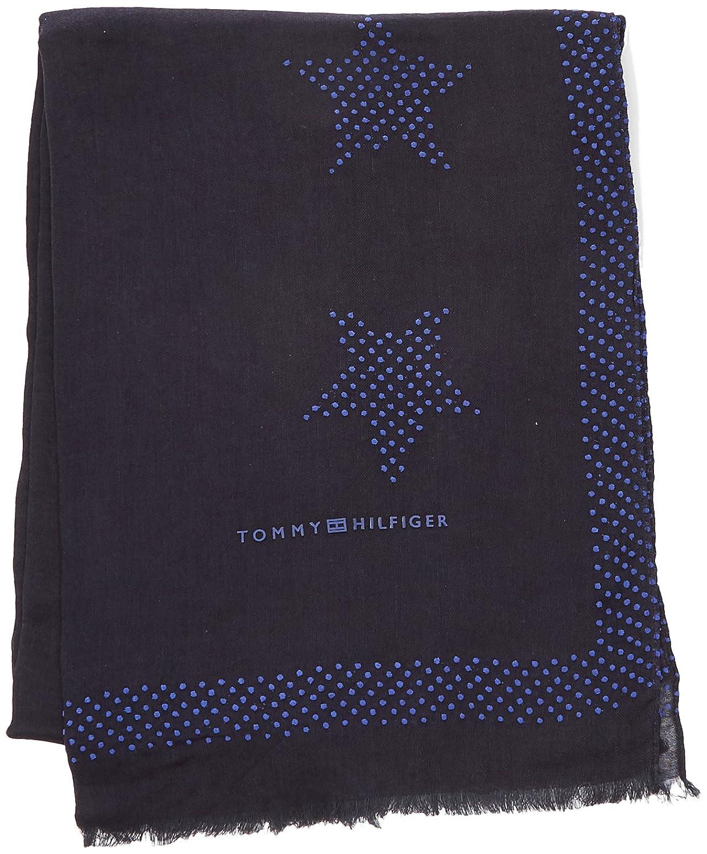 Étoiles Pour Femmes Tommy Pop Écharpe, Bleu (marine Tommy 413), Taille (taille Du Fabricant: Os) Tommy Hilfiger