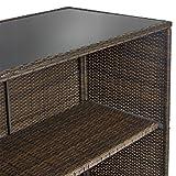 3PC/SET Patio Bar Wicker Outdoor Backyard Table & 2 Stools Rattan Furniture