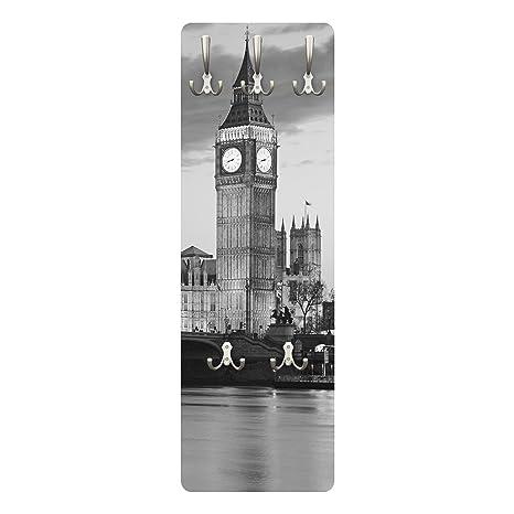 Perchero de diseño de Londres de Noche II 139 x 46 x 2 cm ...