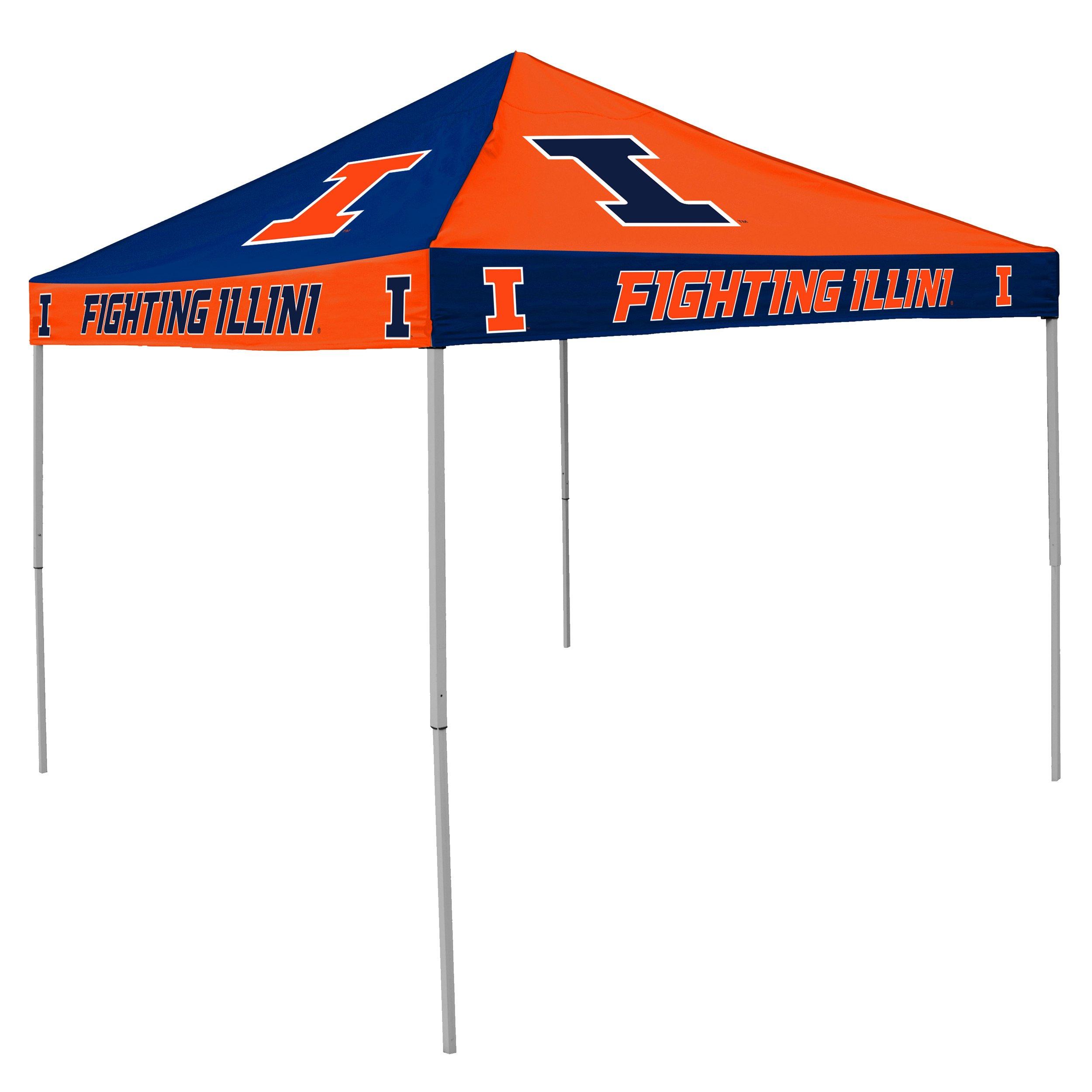 NCAA Illinois Fighting Illini 9-Foot x 9-Foot Pinwheel Tailgating Canopy, Navy/Orange