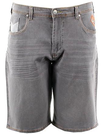 Kam taille grande homme Kam jean Short Gris délavé en gris qXZwUA