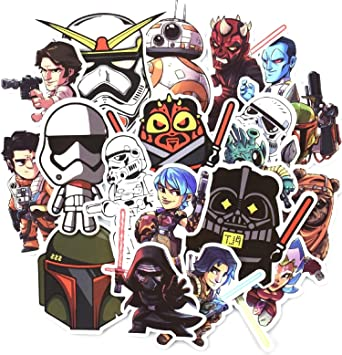 star wars . 50pcs stickers divertidas pegatinas de la famosa ...