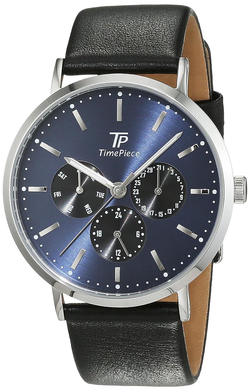Time Piece Herren-Armbanduhr Classic Analog Quarz Leder TPGS-32413-31L