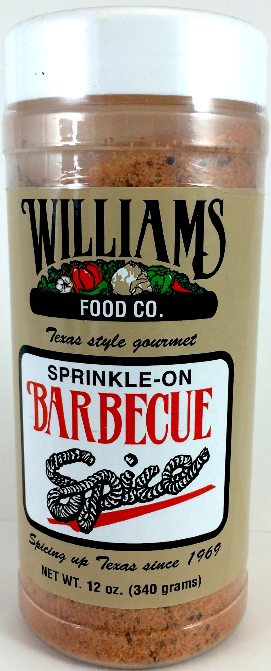 Williams Food Co. Sprinkle-on Barbecue Spice, 12oz (Pack of 1)