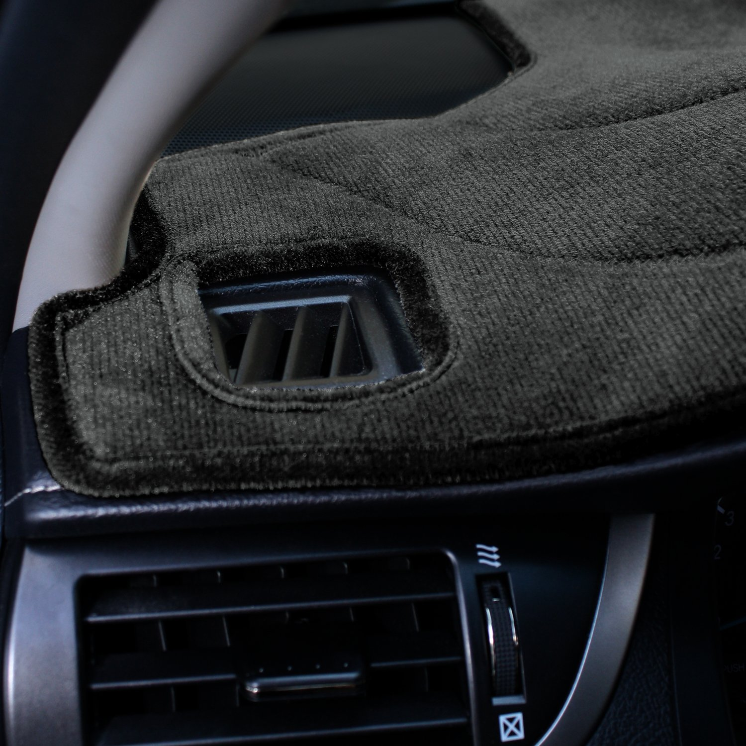 Velour Coverking Custom Fit Dashcovers for Select Ford Focus Models Charcoal