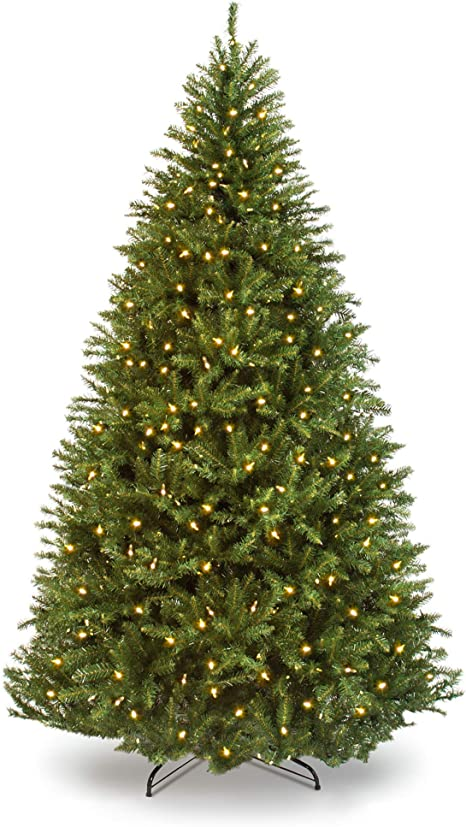 Amazon Com Best Choice Products 7 5ft Pre Lit Hinged Douglas Full Fir Artificial Christmas Tree Holiday Decoration W 2 254 Branch Tips 700 Warm White Lights Easy Assembly Foldable Metal Stand Home Kitchen