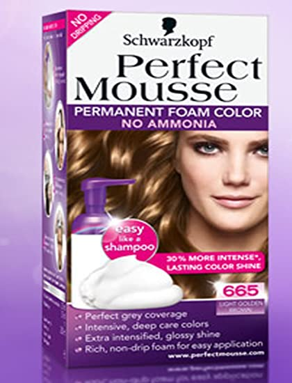 Schwarzkopf Perfect Mousse 665 - Color permanente para el ...