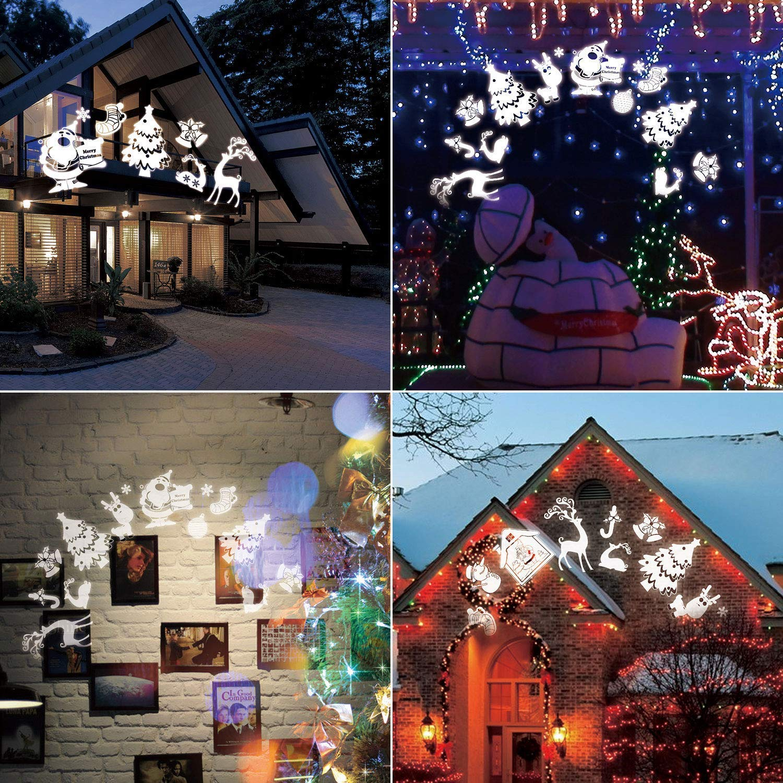 Weihnachts LED-Projektionslampe, 16 Muster, IP65 Wasserdichter ...