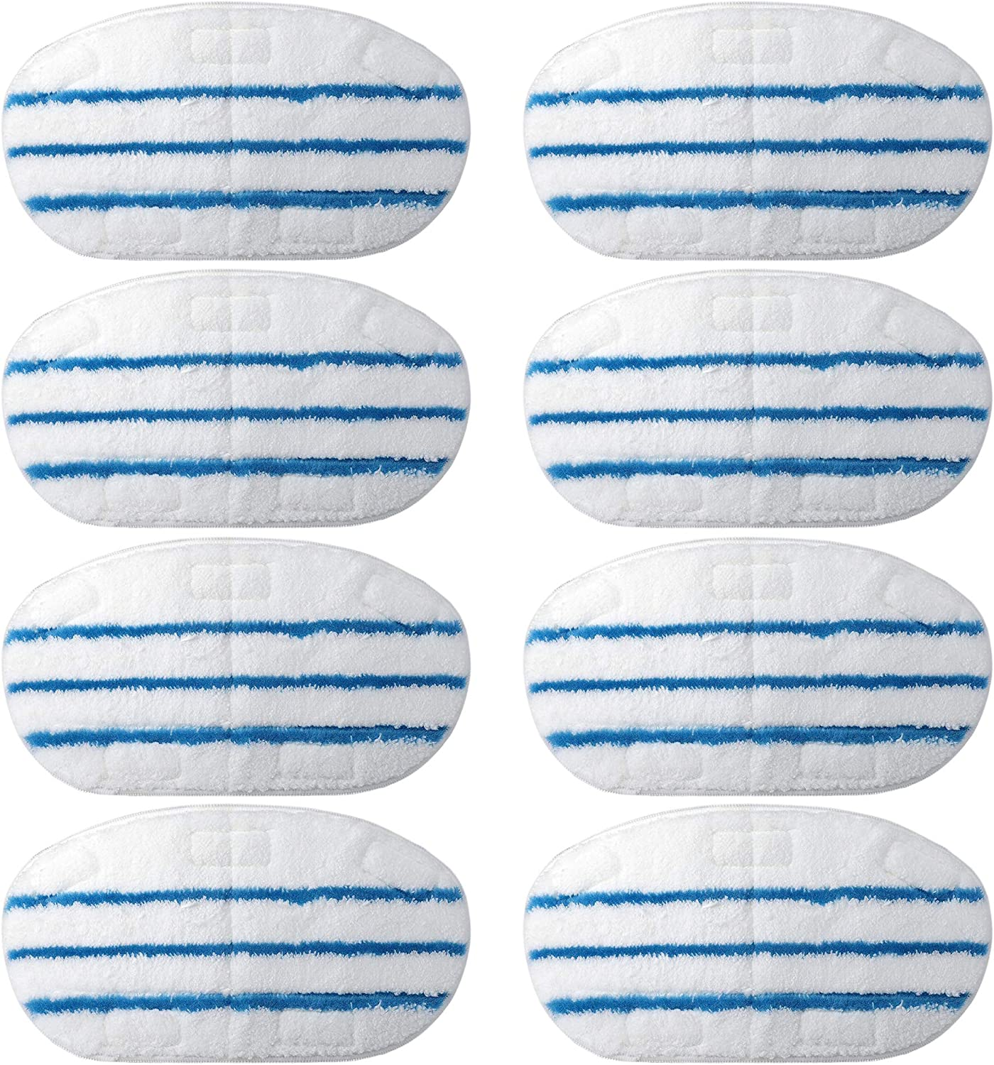 F Flammi 8 Pack PurSteam Steam Mop Pad Replacement Microfiber Washable Pads for ThermaPro 10-in-1