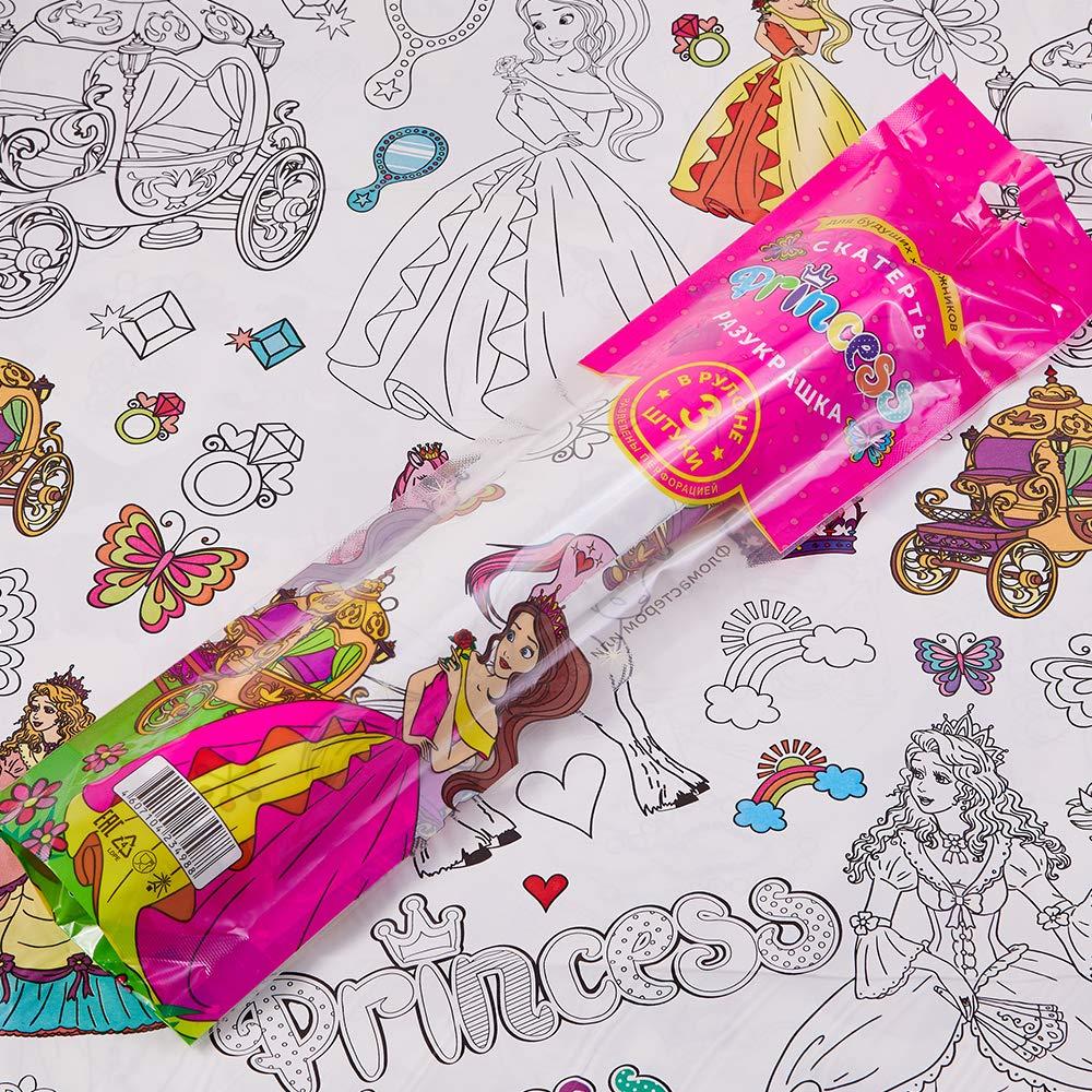 Coloring Tablecloth Princess