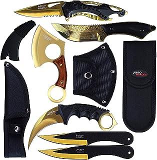 Amazon.com: Blade Factory Juego de 7 cuchillos tácticos ...