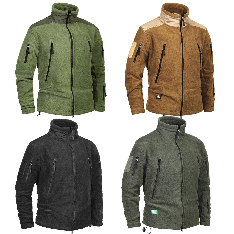 Clothing Coat Men Thicken Warm Military Army Fleece Jacket Patchwork Multi Pockets Polartec Mens Jacket