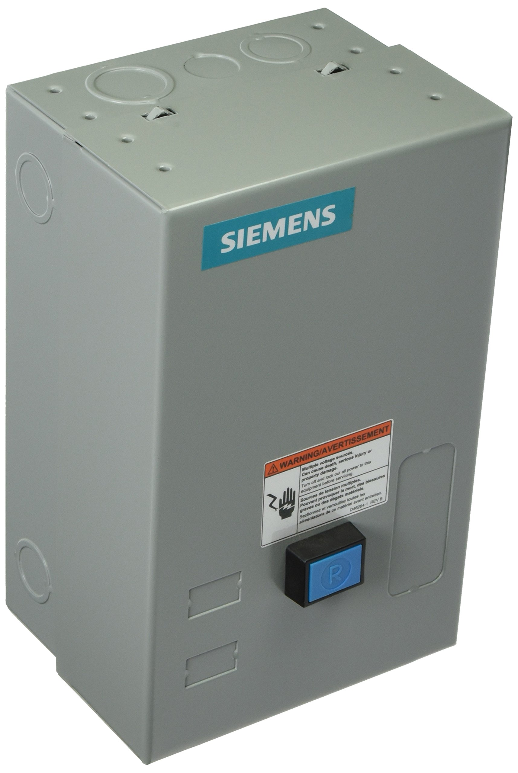 Siemens 14BUC32BA Heavy Duty Motor Starter, Solid State Overload, Auto/Manual Reset, Open Type, NEMA 1 General Purpose Enclosure, 3 Phase, 3 Pole, 00 NEMA Size, 3-12A Amp Range, A1 Frame Size, 110-120/220-240 at 60Hz Coil Voltage