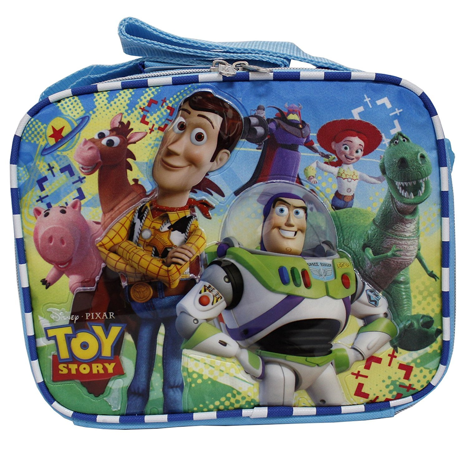 Disney Toy Story New Light Blue Insulated Lunch Box Bag- Buzz Lightyear & Woody