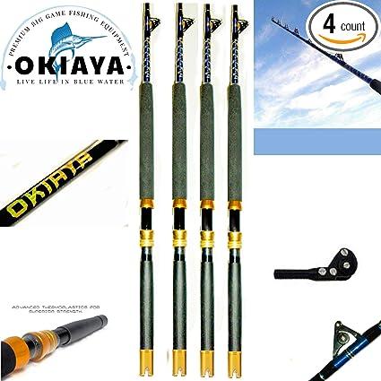 Fast Action Big Tuna Rod100-120lb Solid Fiberglass Roller Rod