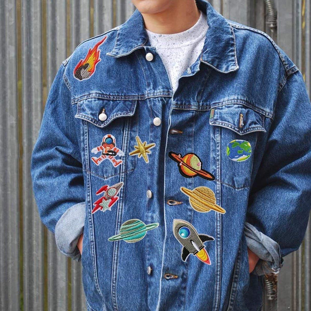 Car Parche de Ropa Parches Ropa Termoadhesivos Cute DIY Ropa Parches para la camiseta Jeans Ropa Bolsas Patch Sticker Sunshine-Smile 16 Pcs Coche Apliques