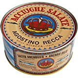 Agostino Recca Salted Whole Anchovies, 800g