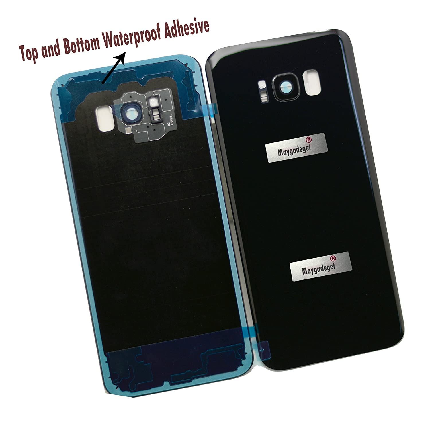 size 40 f3e86 9ec0c New Maygadget For Samsung Galaxy S8 Plus 6.2 G955 Rear Panel True Glass  Back Cover Housing Replacement W/Waterproof Adhesive,Rear Camera Cover ...