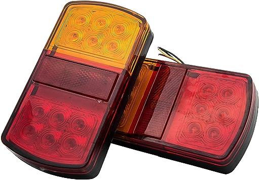 Maso 2 X 12 Led Caravan Van Lkw Anhänger Rücklicht Bremslicht 24 V Blinker Rücklicht Bremslicht Auto