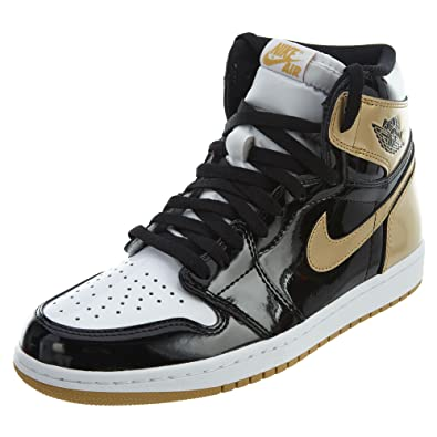 31d243ea0a1413 Nike Mens Air Jordan 1 Retro High OG NRG Top 3 quot  Black Metallic Gold
