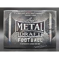 2021 Leaf Metal Draft Football box (FIVE Autograph cards/bx) photo
