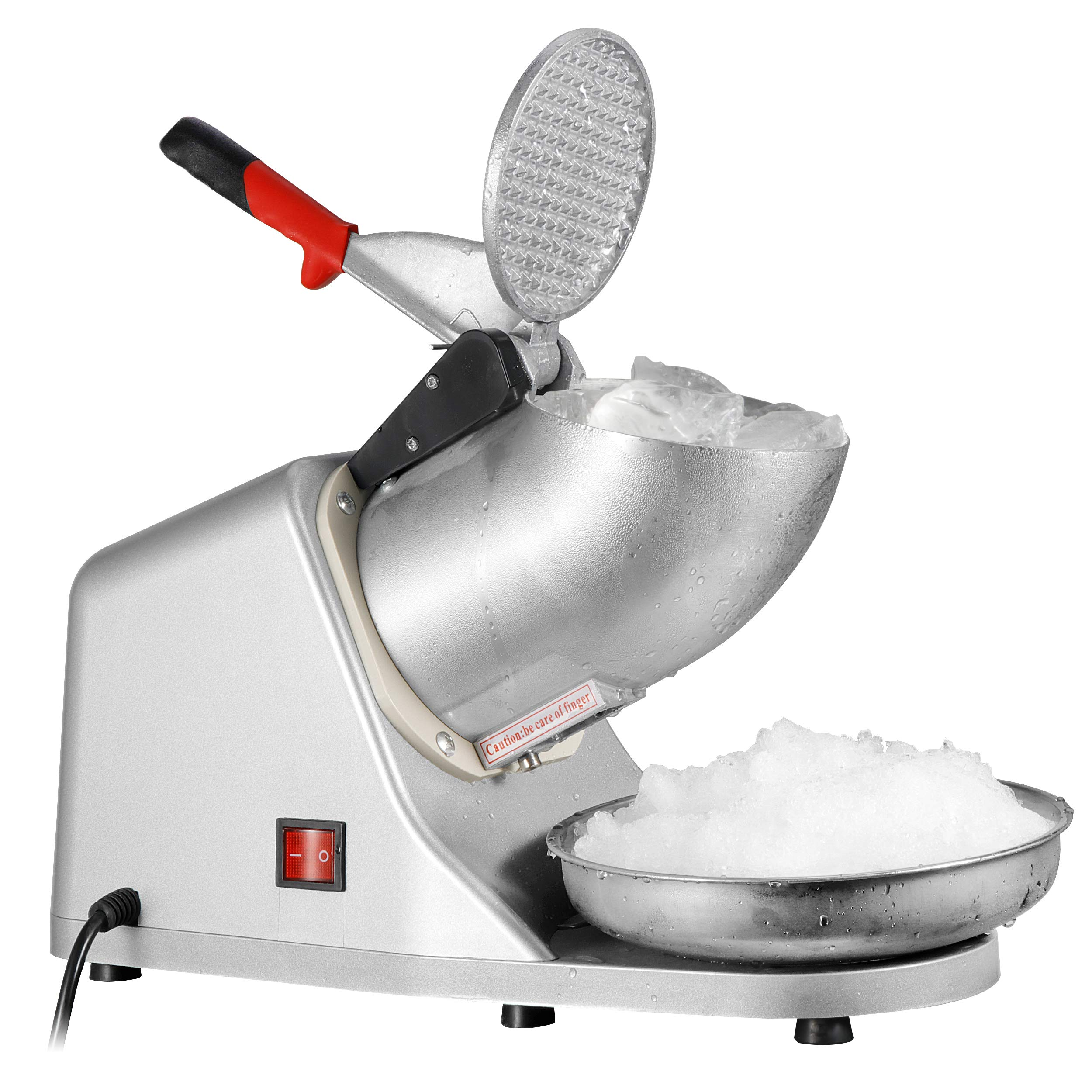 ZENY Ice Shaver Machine Electric Snow Cone Maker Stainless Steel Shaved Ice Machine 145lbs Per Hour by ZENY