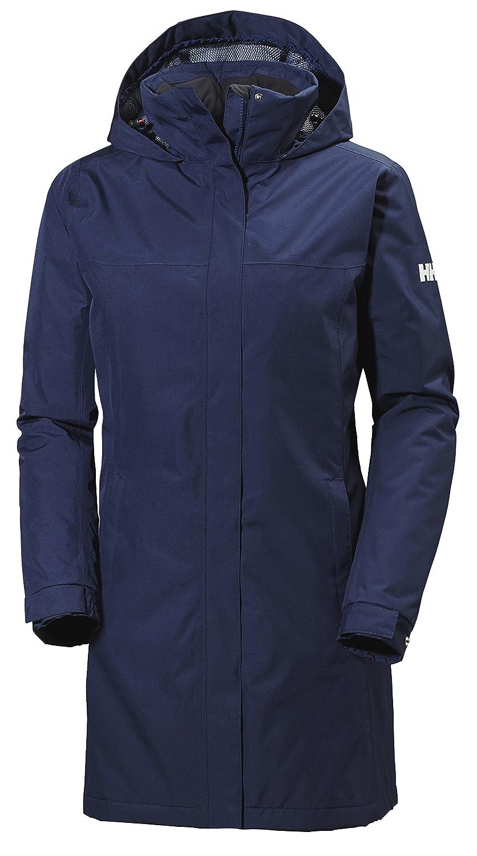 Helly Hansen Women's Aden Long Insulated Rain Jacket, Evening Blue, X-Small 62649