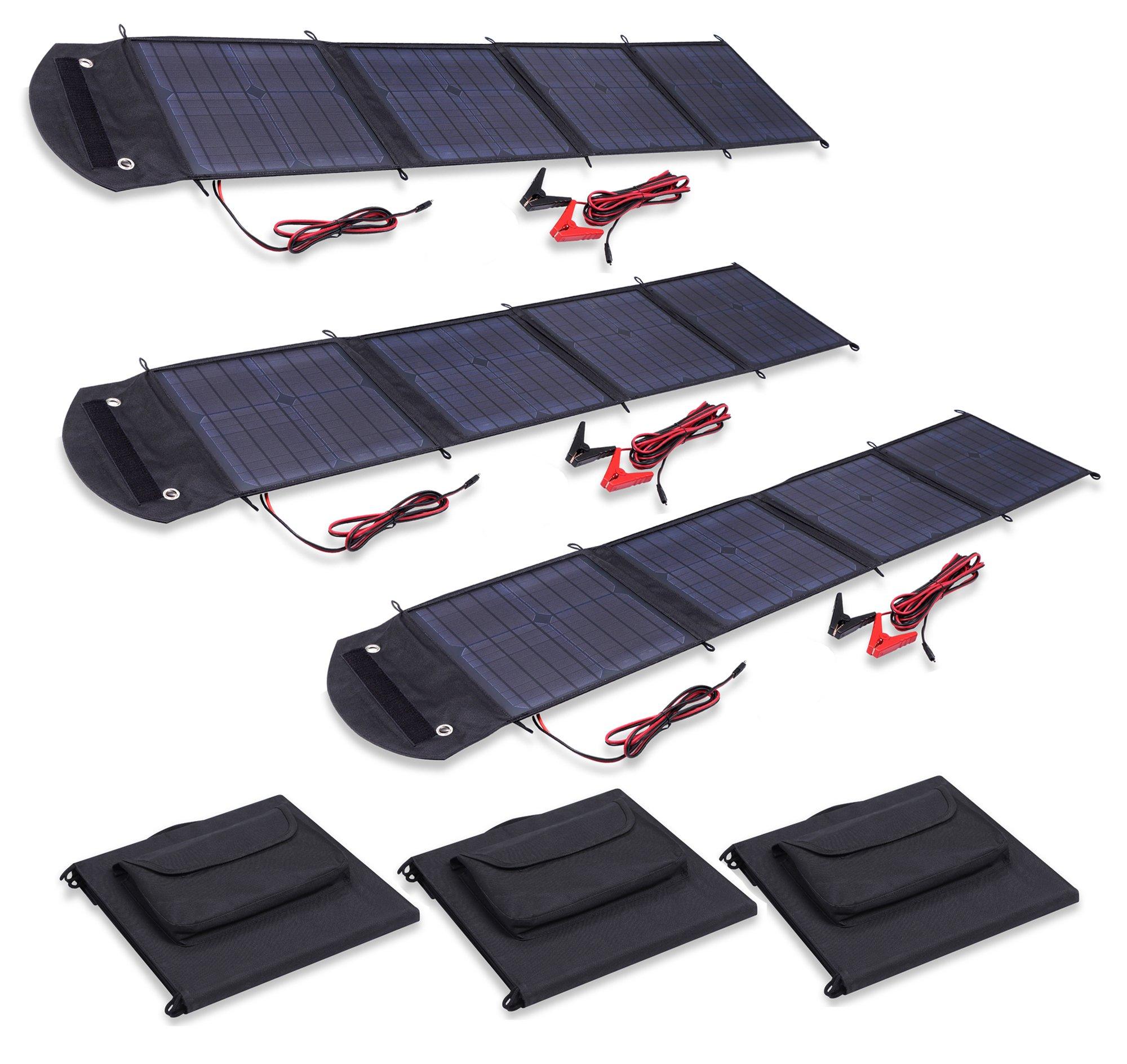 Visua VSSP 500W High Power Fold Up Portable Solar Panel Battery Charger  Kits For Caravans, Motorhomes 150W Kit