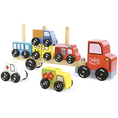 Vilac Truck and Trailer with Cars Stacker: Baby