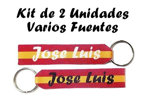 Llavero Personalizado Bandera España con Nombre Kit de 2 ...