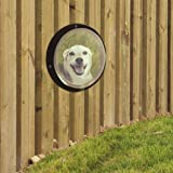 Rufus + Spot Bubble Fence Window for Pets: Plastic Dome Porthole Peek for Yard, Kennel or Daycare