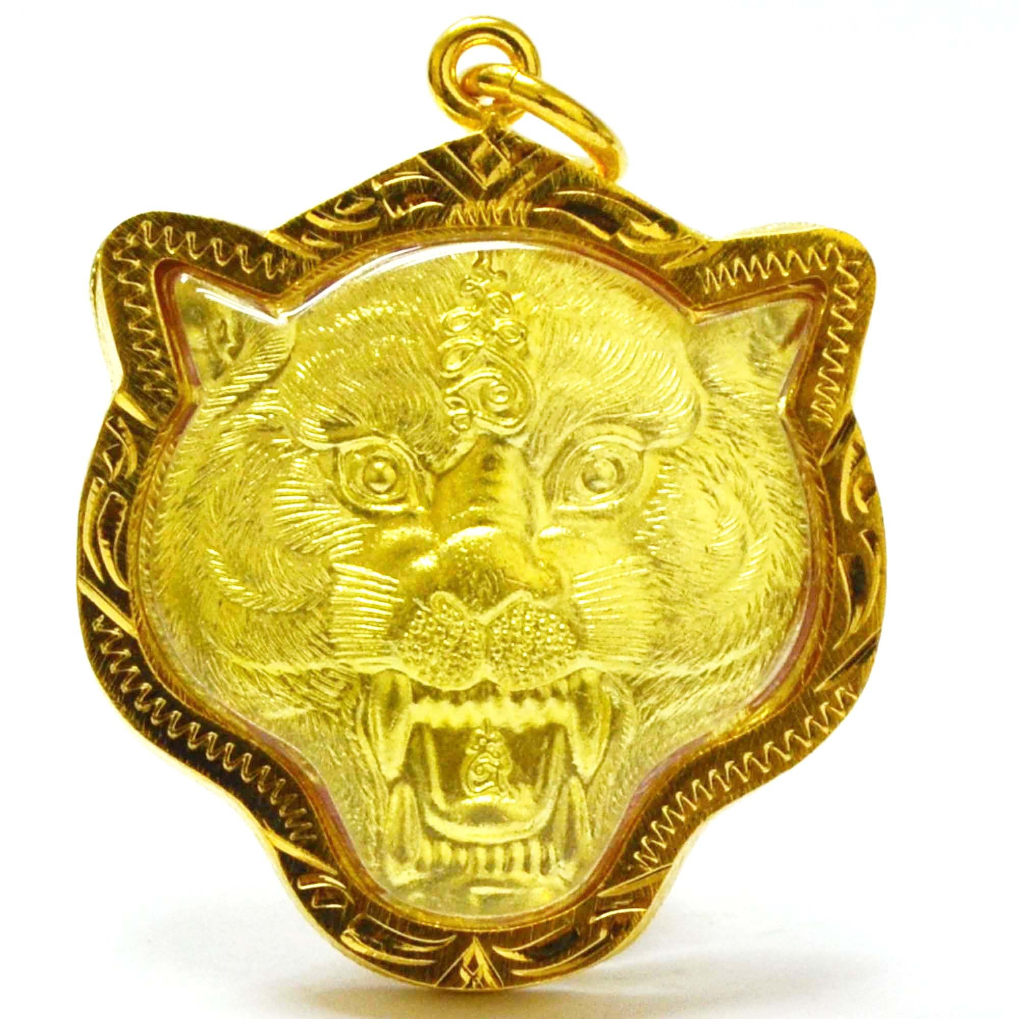 Thailand Tiger Amulets Fighter Tiger Pendants Lp Pern,Life Protection by Muaythai Amulets Jewelry