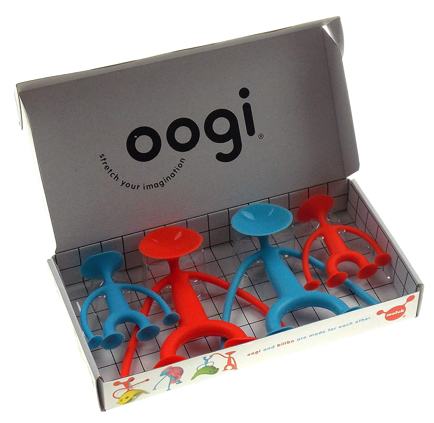 Family of Characters with Extendable Suction Silicone MOLUK Oogi Family /& Bongo Bundle
