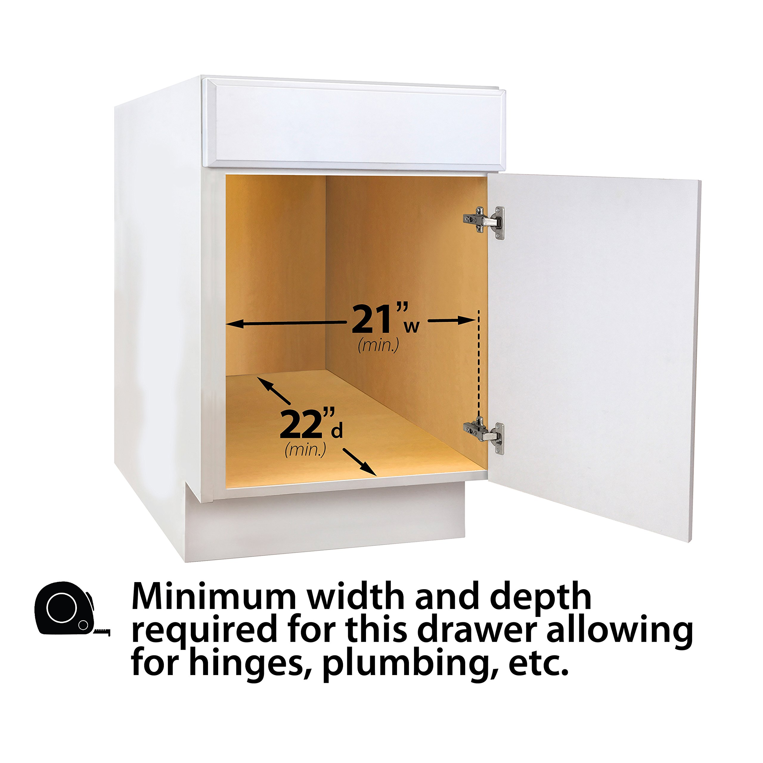 Lynk Professional Slide Out Cabinet Organizer - Pull Out Under Cabinet Sliding Shelf by Lynk (Image #3)