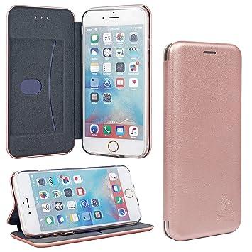 timeless design a809c 58269 Gorilla Tech Apple iPhone 8 Plus Leather Case Luxury Genuine 3D Curve  Premium Designer Slim Magnetic Closer Wallet Book Protective Flip Cover  Full All ...