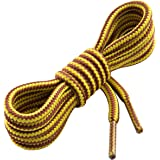 Heavy Duty and Durable Shoelaces for Boots,(2 Pairs) Work Boots & Hiking Shoes (55inch/140cm, Gold)