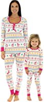 Bedhead Mommy & Me Matching Partridge Fair Isle Pajamas