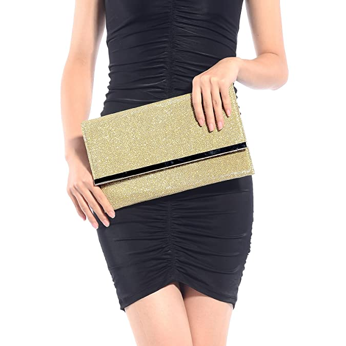 Surepromise Ladies Sparkling Dazzling Sequins Clutch Bag Purse Handbag Evening Party bag: Handbags: Amazon.com