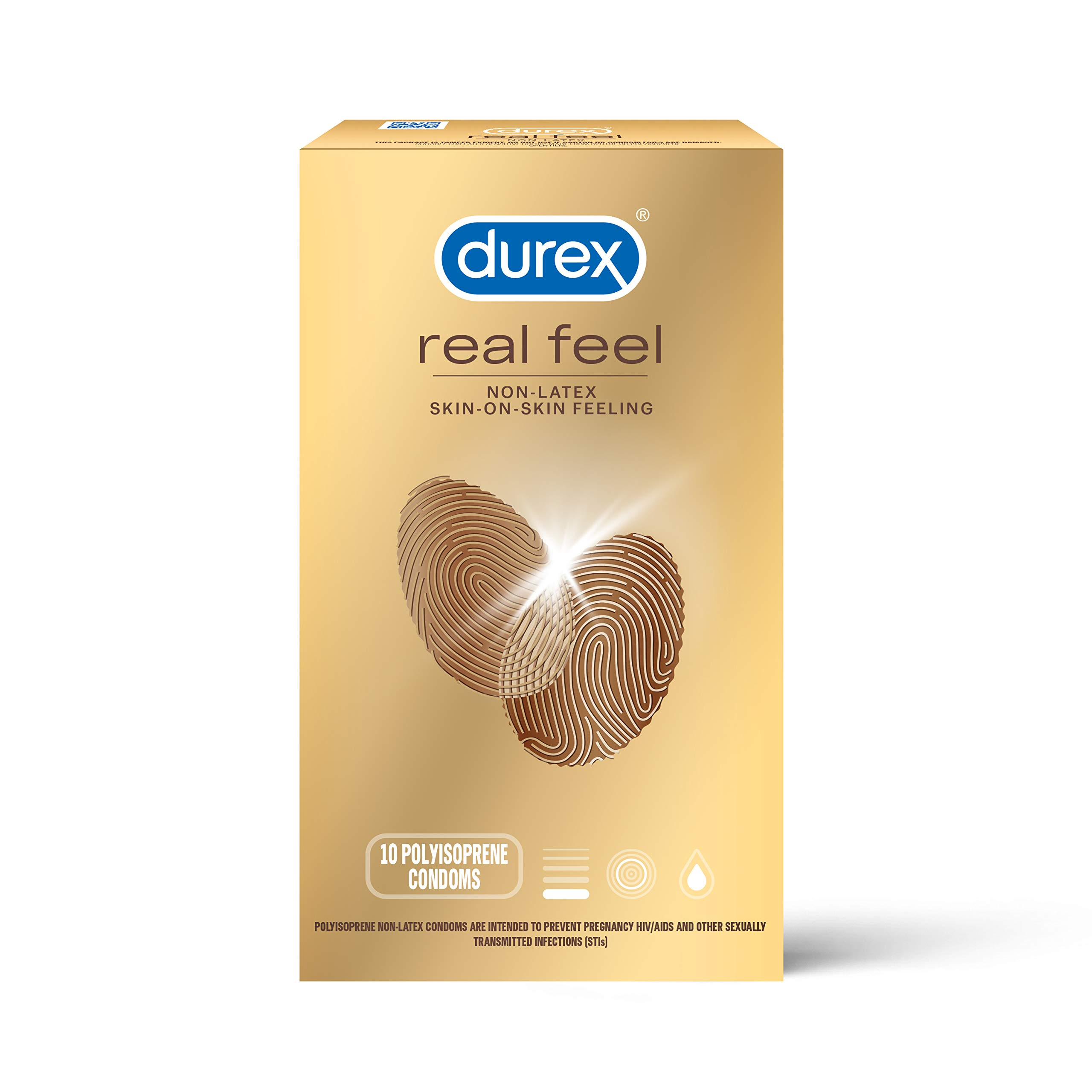 Condoms for Sex, Non Latex Durex Avanti Bare Real Feel Lubricated Condoms, 10 Count, Non Latex Condoms for Men with Natural Skin on Skin Feeling, FSA & HSA Eligible